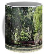 Red Footbridge Over Green Water Coffee Mug