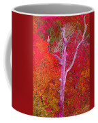 Pink Tree In A  Red Forest Coffee Mug