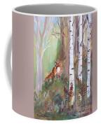 Red Fox And Cardinals Coffee Mug