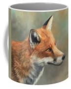 Red Fox Portrait Coffee Mug by David Stribbling