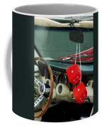 Red Fuzzy Dice In Converible Coffee Mug