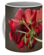 Red Geranium In Progress Coffee Mug