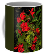 Red Geranium Line Art Coffee Mug