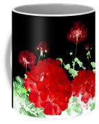 Red Geraniums Coffee Mug by Will Borden