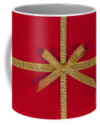 Red Gift With Gold Ribbon Coffee Mug by Elena Elisseeva