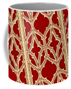 Gothic Pattern On Red Coffee Mug