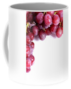 Red Grapes With White Copy Space Coffee Mug