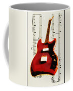 Red Guitar Coffee Mug by Bill Cannon