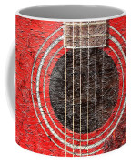 Red Guitar - Digital Painting - Music Coffee Mug