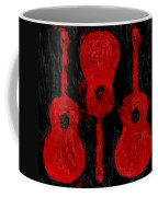 Red Guitars Coffee Mug