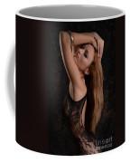 Red Hair Black Lace Coffee Mug