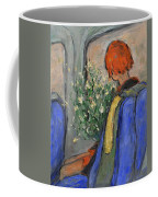 Red-haired Girl On A Sydney Train Coffee Mug