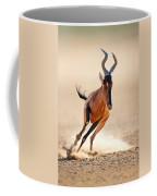 Red Hartebeest Running Coffee Mug