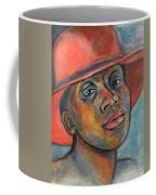 Red Hat Lady Coffee Mug by Xueling Zou