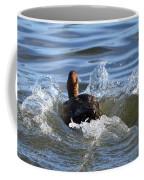 Red Head Duck Resurfaces With A Splash Coffee Mug