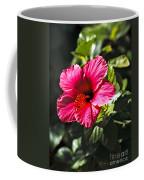 Red Hibiscus Coffee Mug by Robert Bales