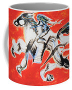 Red Horse And Rider Coffee Mug