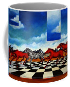 Red Horses With Zebra Coffee Mug
