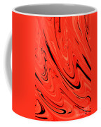Red Hot Lava Flowing Down Coffee Mug