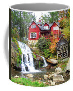 Red House By The Waterfall Coffee Mug