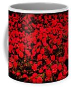 Red Impatiens Flowers Coffee Mug