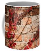 Red Ivy Leaves Creeper Coffee Mug