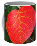 Red Leaf With Yellow Veins Coffee Mug