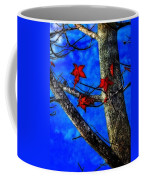 Red Leaves Blue Sky In Autumn Coffee Mug