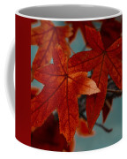 Red Leaves On The Branches In The Autumn Forest. Coffee Mug
