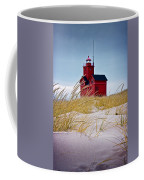 Red Lighthouse By Holland Michigan Known As Big Red Coffee Mug