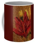 Red Lily Gold Leaf Coffee Mug