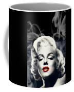 Red Lips Marilyn In Smoke Coffee Mug