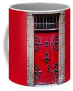 Red Medieval Door Coffee Mug by Elena Elisseeva