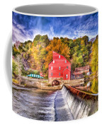 Red Mill Painted Coffee Mug
