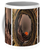 Red Moon Rising - Abstract - Triptych Coffee Mug