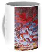 Red Morning With Two Ducks Coffee Mug