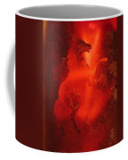 Red On Red Horse Coffee Mug