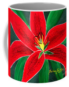 Red Oriental Daylily Coffee Mug