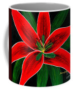 Red Oriental Lily Coffee Mug
