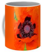 Red Oriental Poppy Coffee Mug