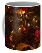 Red Ornament And Gold Ribbon Coffee Mug