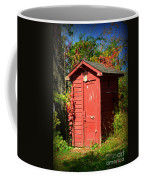 Red Outhouse Coffee Mug