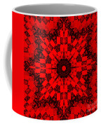 Red Patchwork Art Coffee Mug by Barbara Griffin