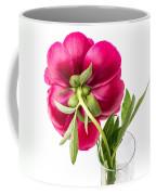 Red Peony Flower Back Coffee Mug