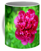Red Peony Flower Coffee Mug by Edward Fielding