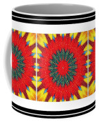 Red Peppered Sunshine - Abstract - Triptych Coffee Mug