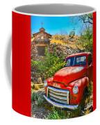 Red Pickup Truck At Santa Fe Coffee Mug