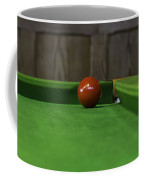Red Pool Ball On A Pool Table Coffee Mug