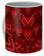 Red Pop Art Hearts Coffee Mug