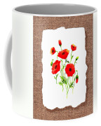 Red Poppies Decorative Collage Coffee Mug